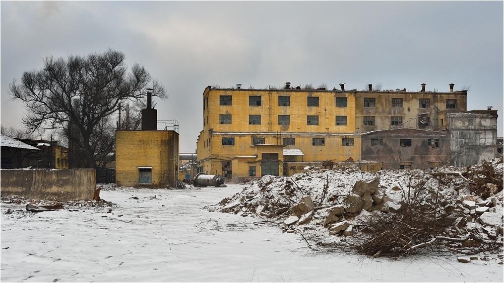 Leerstehendes Industriegebäude im Stahlwerk Fushun
