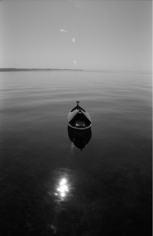 Left on the calm water