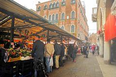 Leichter Regen in Venedig 20 Grad