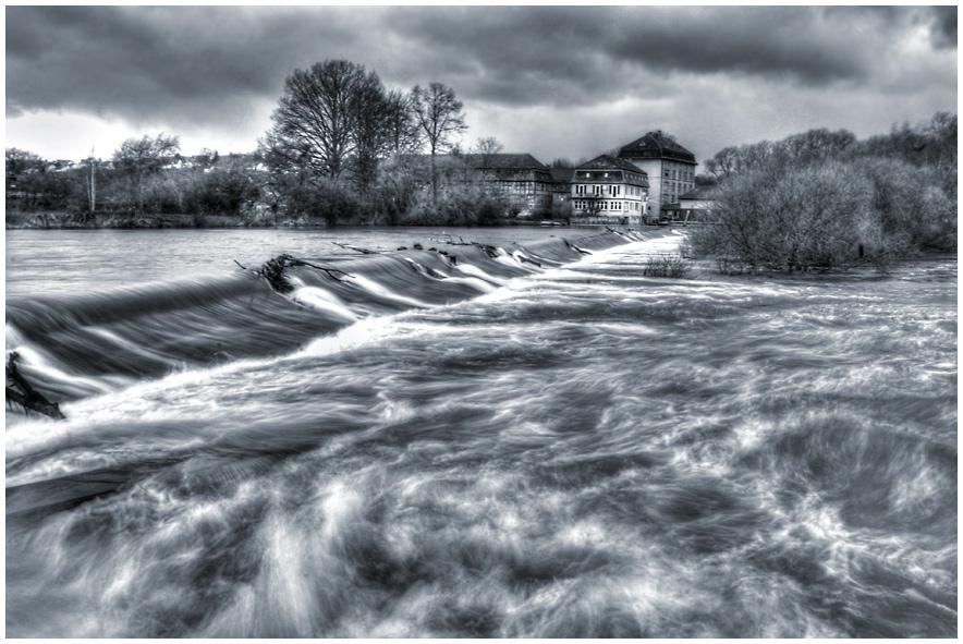 Leichtes Hochwasser