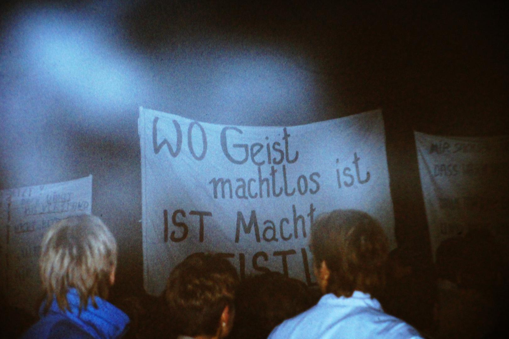 Leipzig, 16. Oktober 1989: Demo im Nebel