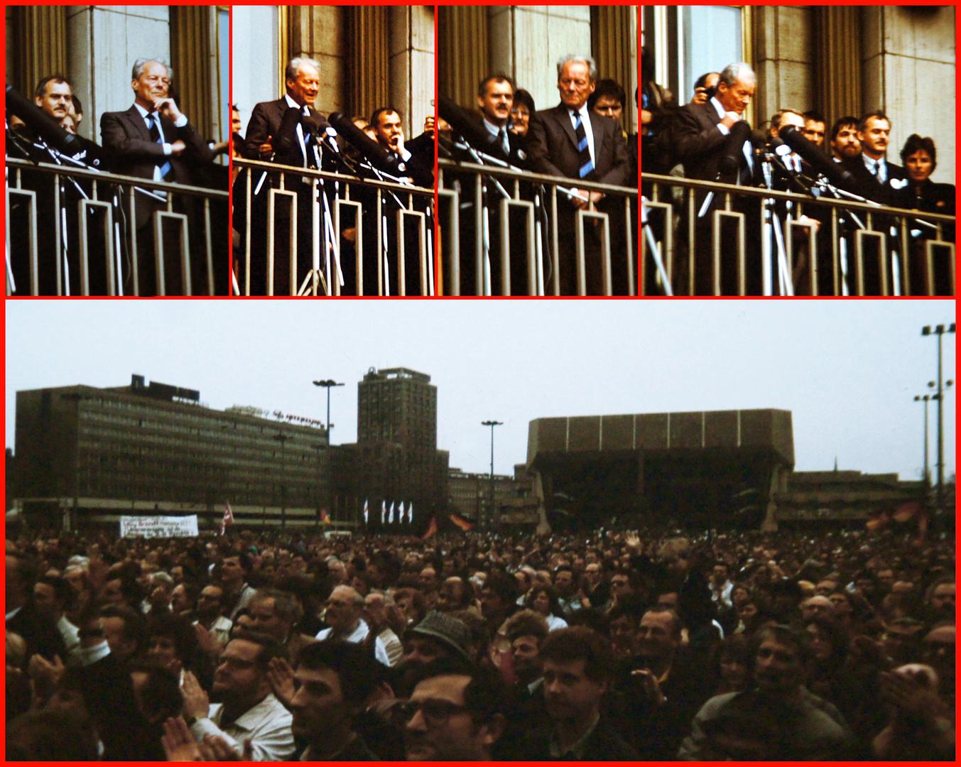 Leipzig, 26. Februar 1990: Willy Brandt