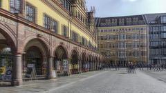 Leipzig, am Markt (3D)