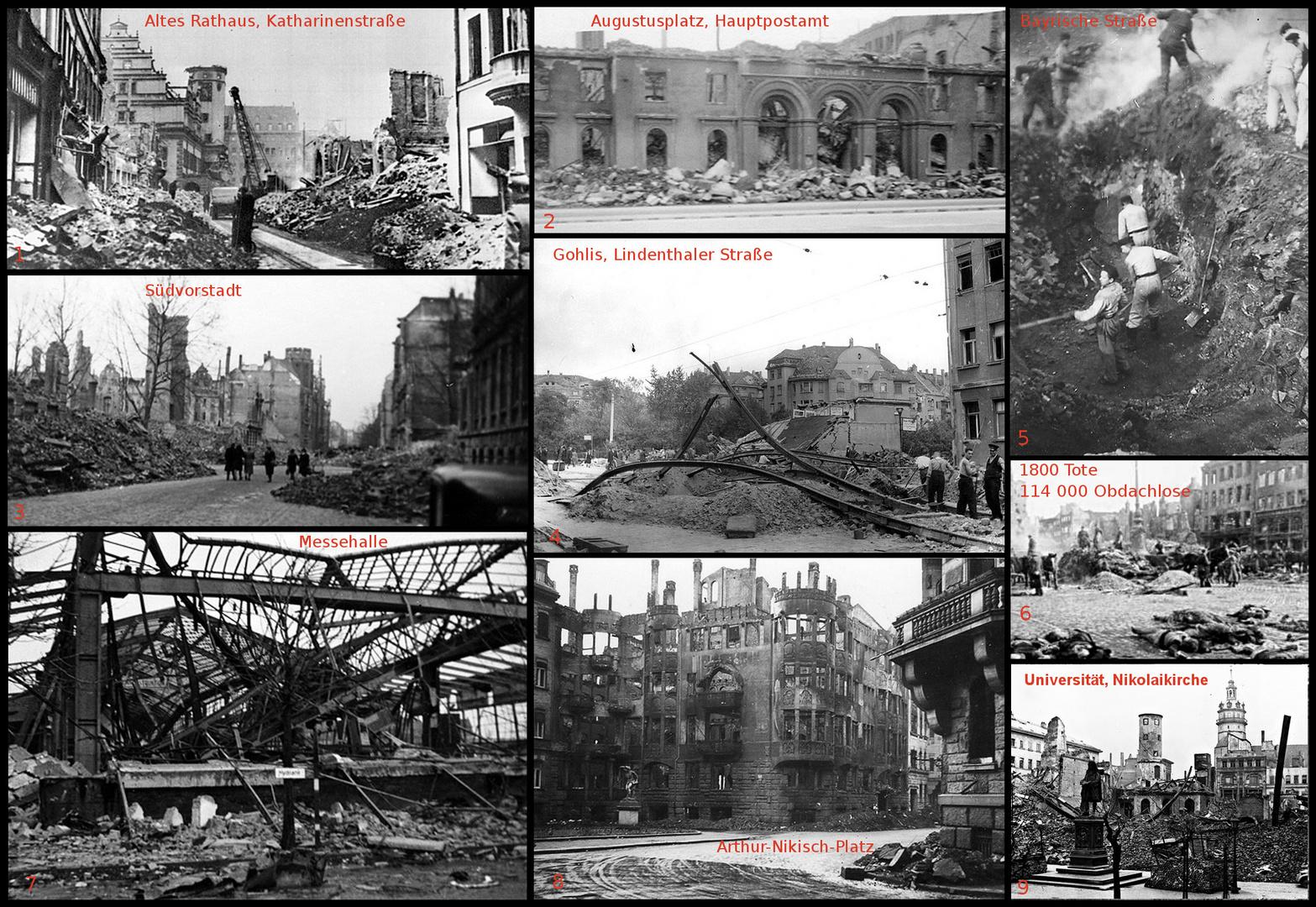 Leipzig vor 70 Jahren