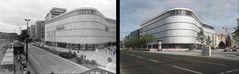 Leipziger Brotbüchse - ehemaliges Centrumwarenhaus 1985 und 2013