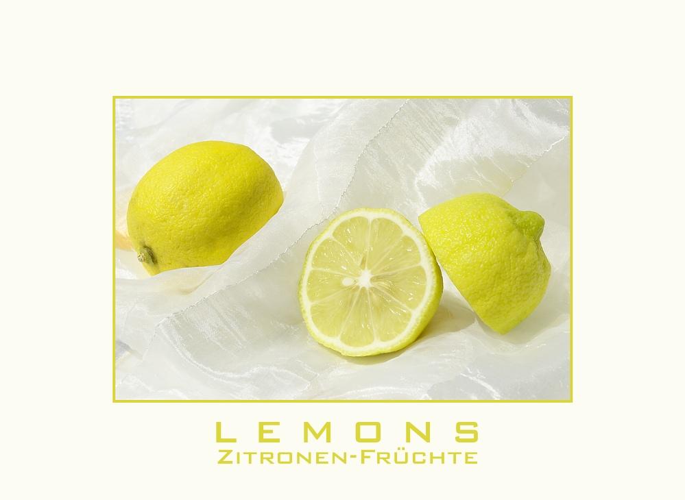 Lemons - Zitronen-Früchte