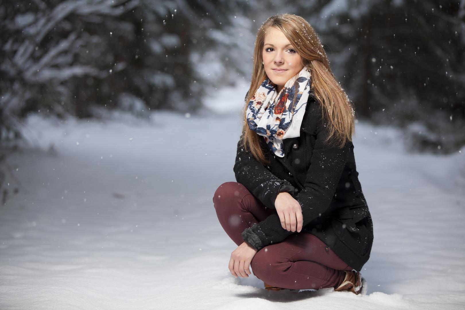 Lena im Schnee . . .