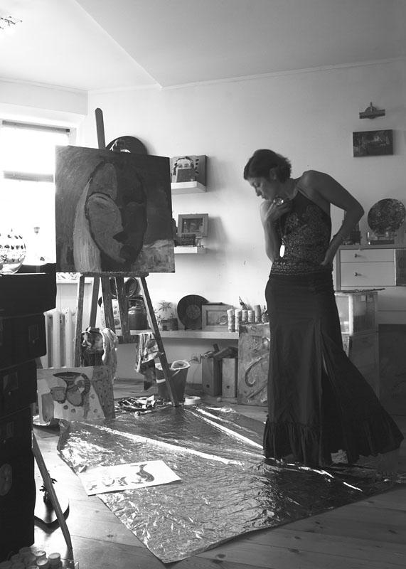Lena in studio