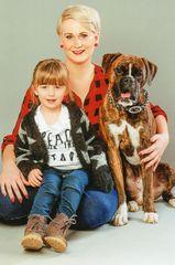 Lenka mit Fiona und Henry