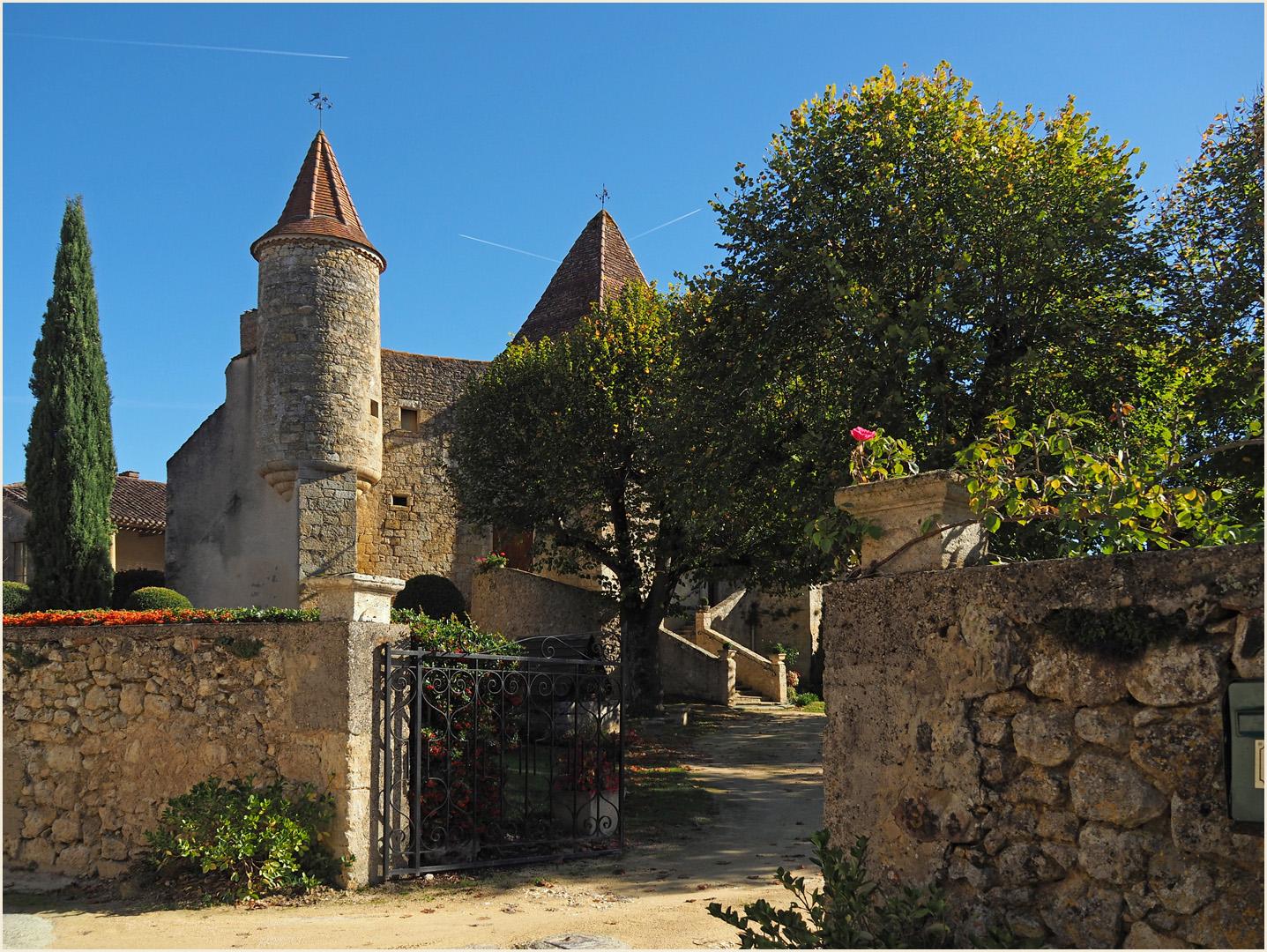 L'entrée du Château de Béraut (Gers)