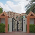 L'entrée d'une villa
