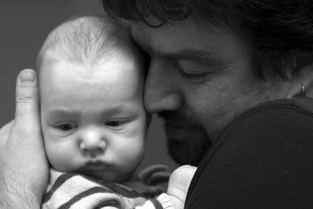 Leon, 3 Monate und Papa