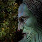 Léonard de Vinci sous les feuillages du soir