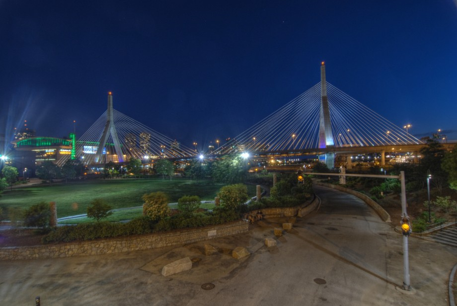 Leonard P Zakim Bunker Hill Bridge in Boston