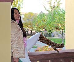 Leoparden-Overknees