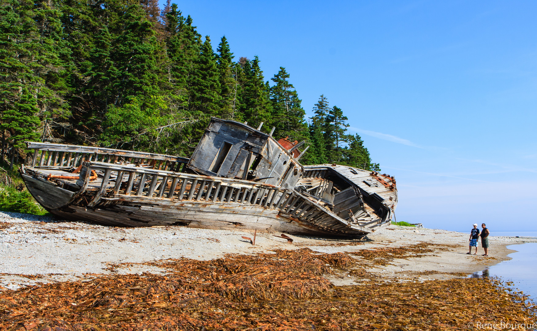 L'épave du Wilcox, rive nord de l'île Anticosti