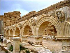 Leptis Magna: Particolare del Foro Severiano