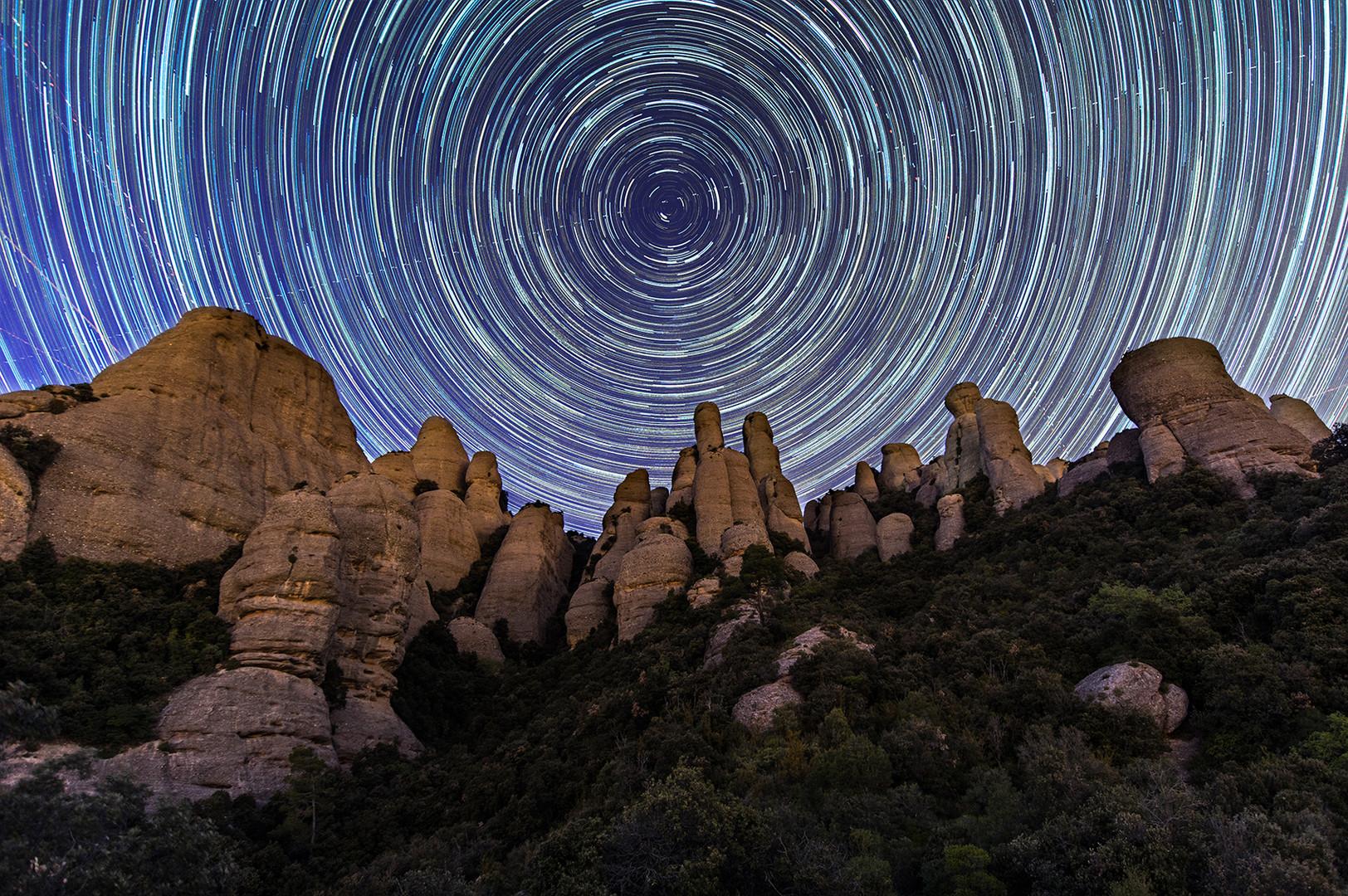 Les Agulles. Montserrat mountain.