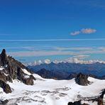 Les Alpes (photo prise de l'Aiguille du Midi)