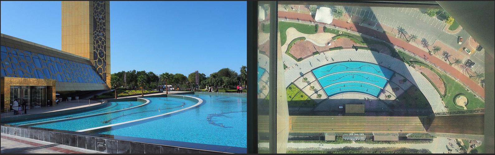 """Les bassins du """"Dubaï Frame"""""""