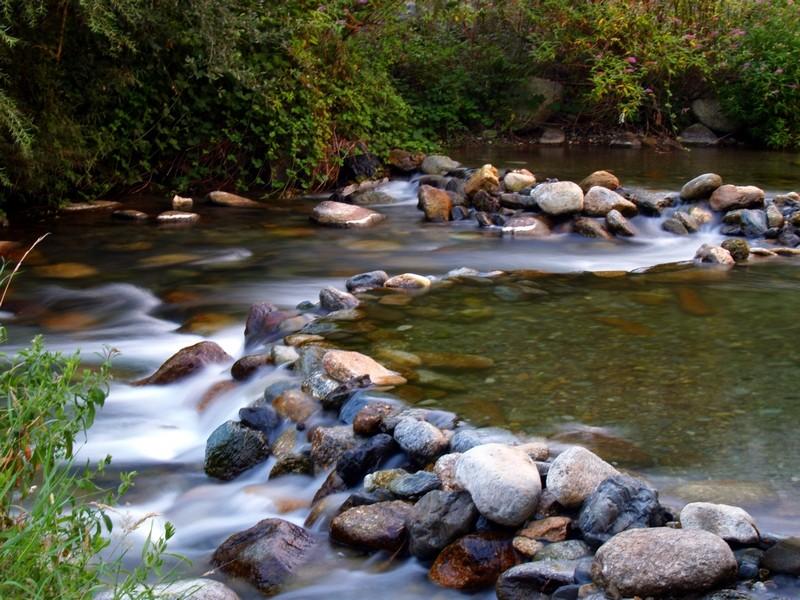 Les cailloux et la rivière
