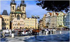 Les calèches de Prague
