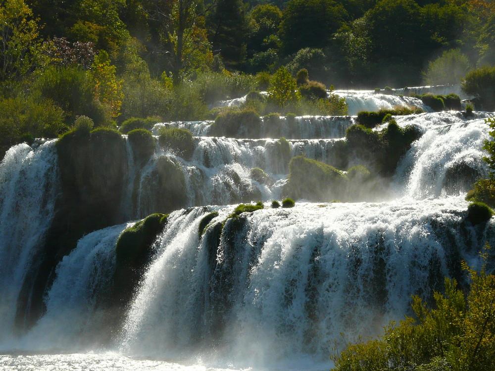 Les cascades du Parc de Krka (Croatie)