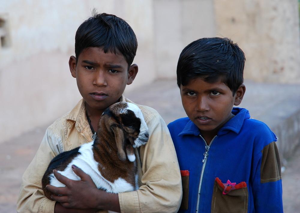 Les Enfants et la Chèvre
