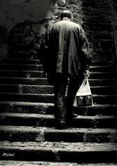 Les escaliers de la vieille ville.
