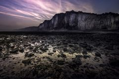 Les falaises de Yport au petit matin