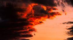 les feux d'artifice des nuages