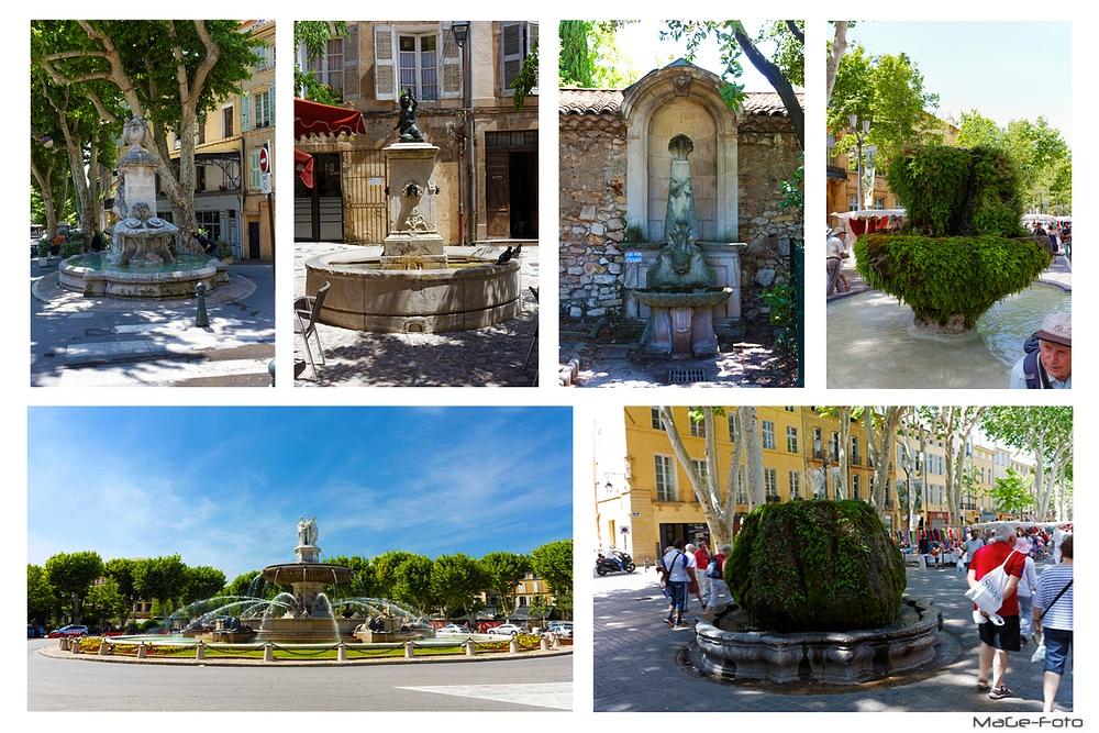 Les fontaines d'Aix