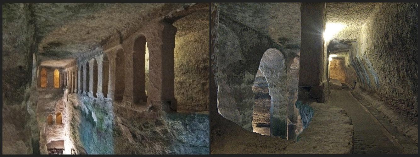 Les galeries du 1er étage - Eglise monolithe Saint-Jean