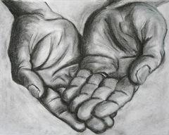 les mains en craie