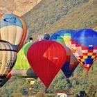 Les montgolfières.