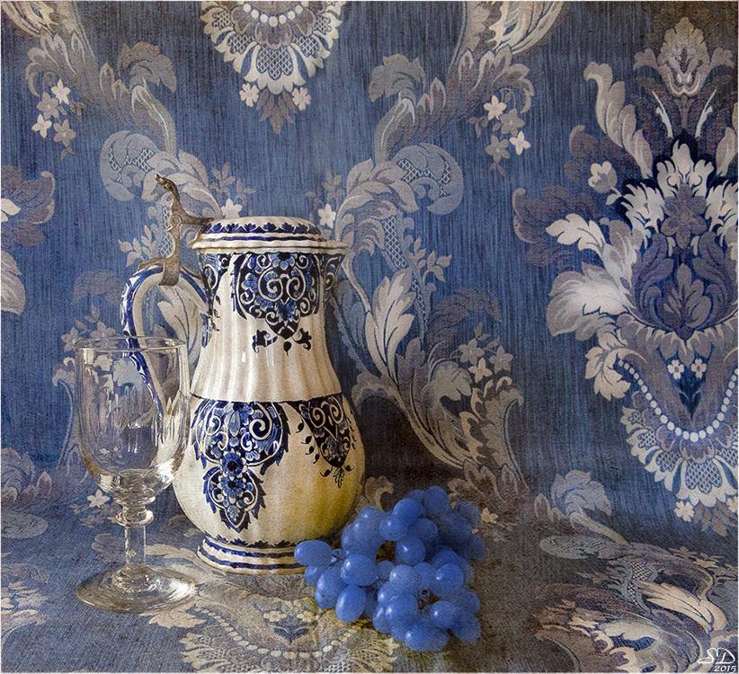 Les raisins bleus .