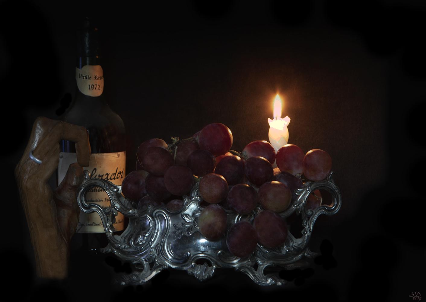 Les raisins rouges