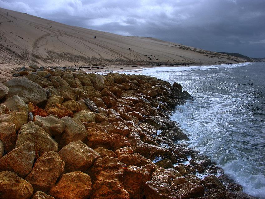 Les rochers et la dune