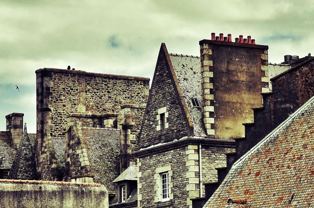 les toits et les cheminées