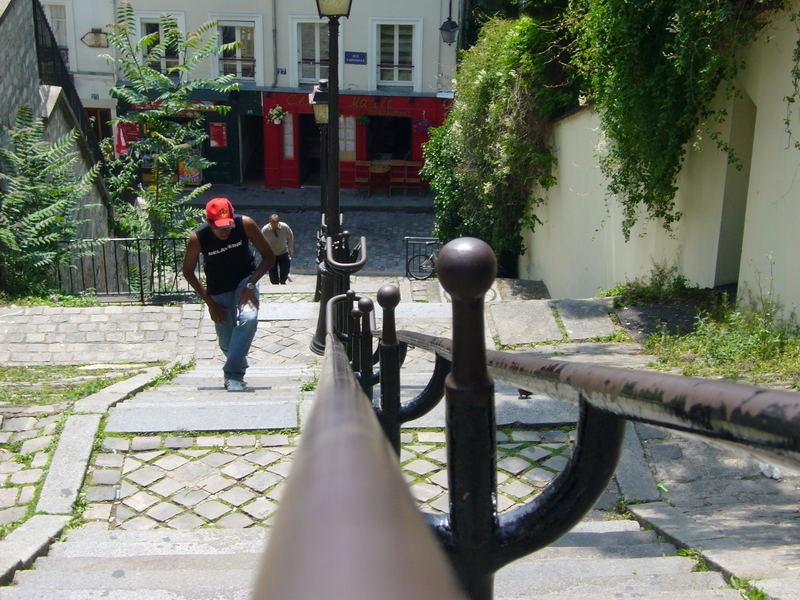 L'escalier à Montmartre
