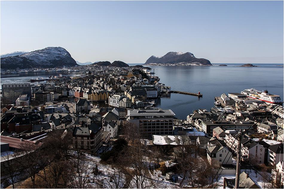 Ålesund aus halber Höhe