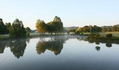 L'étang le matin.
