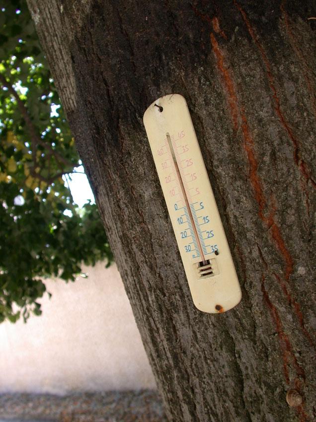 l'été, il fait chaud, très chaud