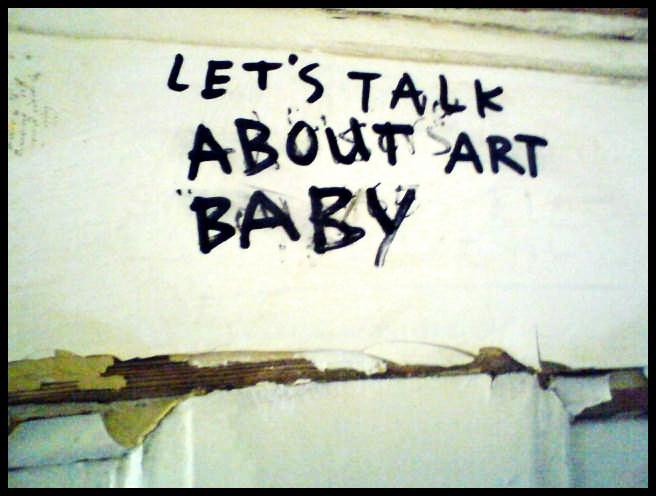 Let's talk about art.;)