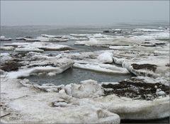 letzte Eisschollen auf Usedom
