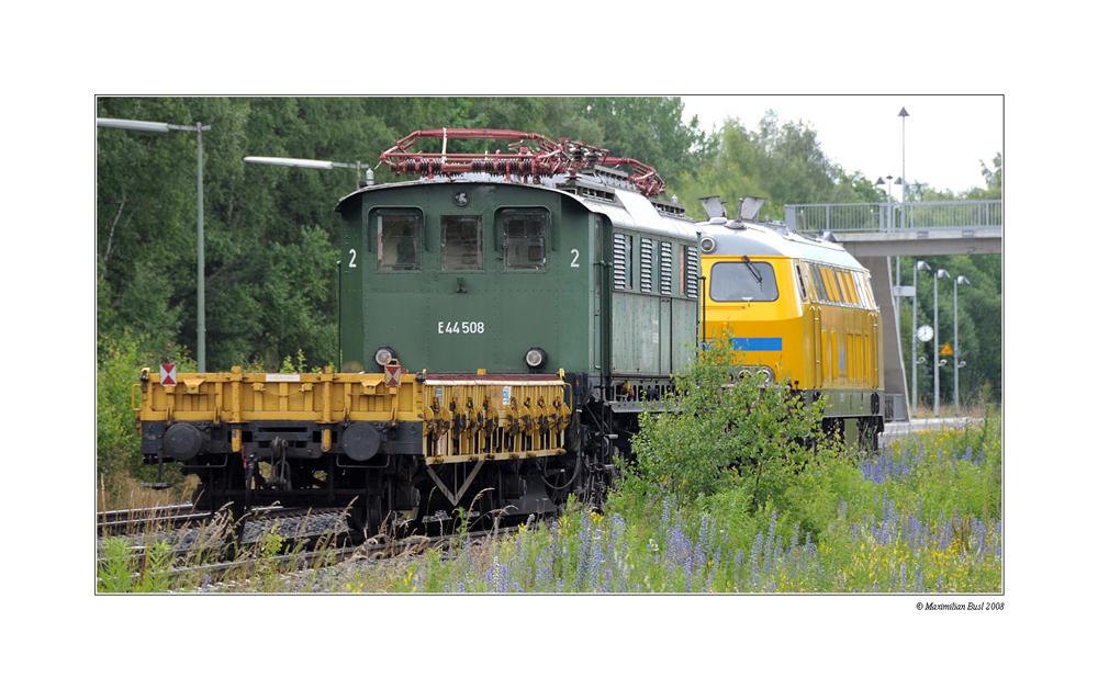 Letzte Fahrt der E 44 508