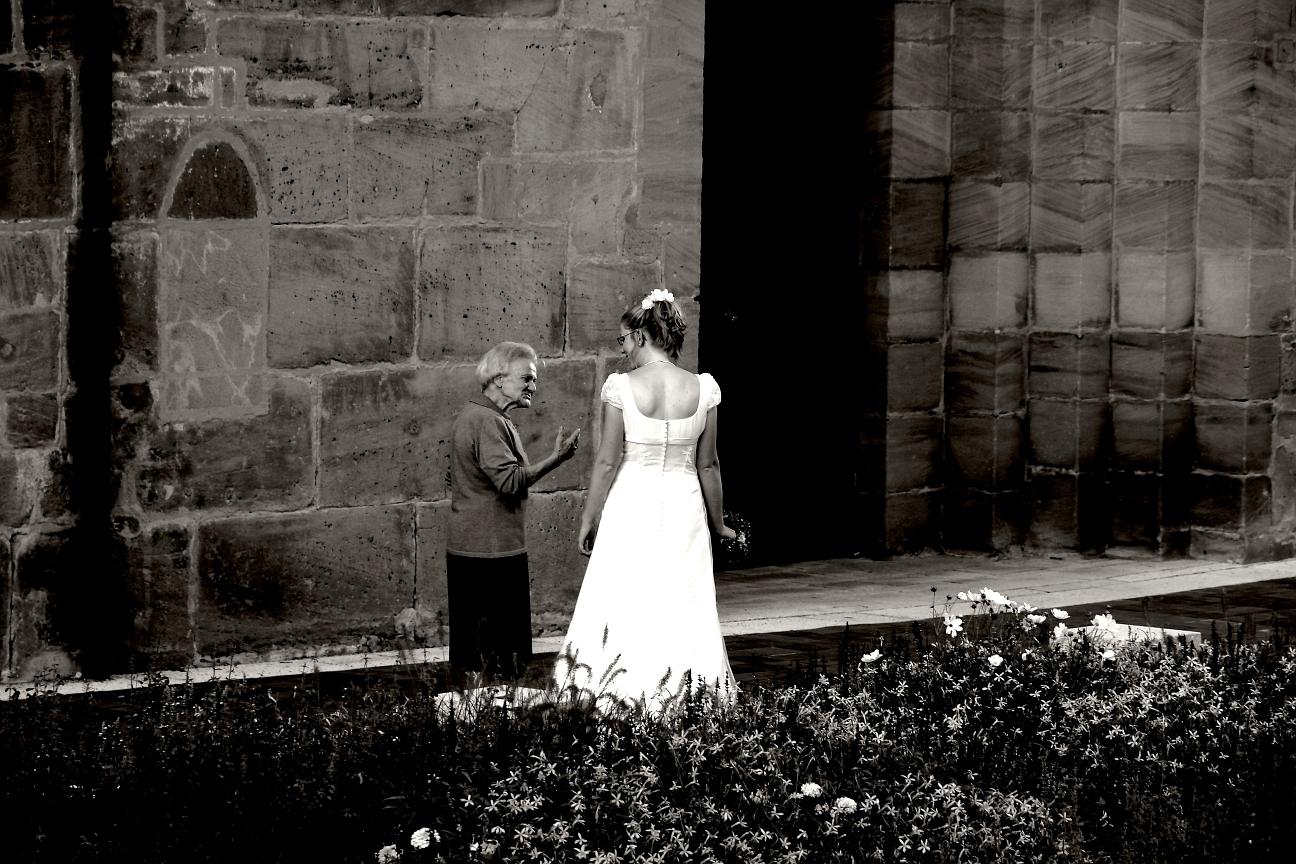 Letzte Ratschläge für die Braut ...
