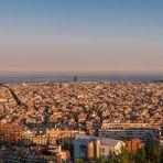Letzte Sonnenstrahlen auf Barcelona (ca. 180°)