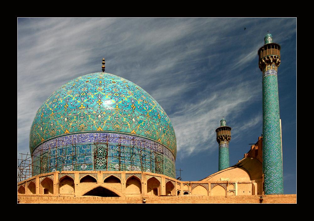 letzter Blick auf die Imam Moschee