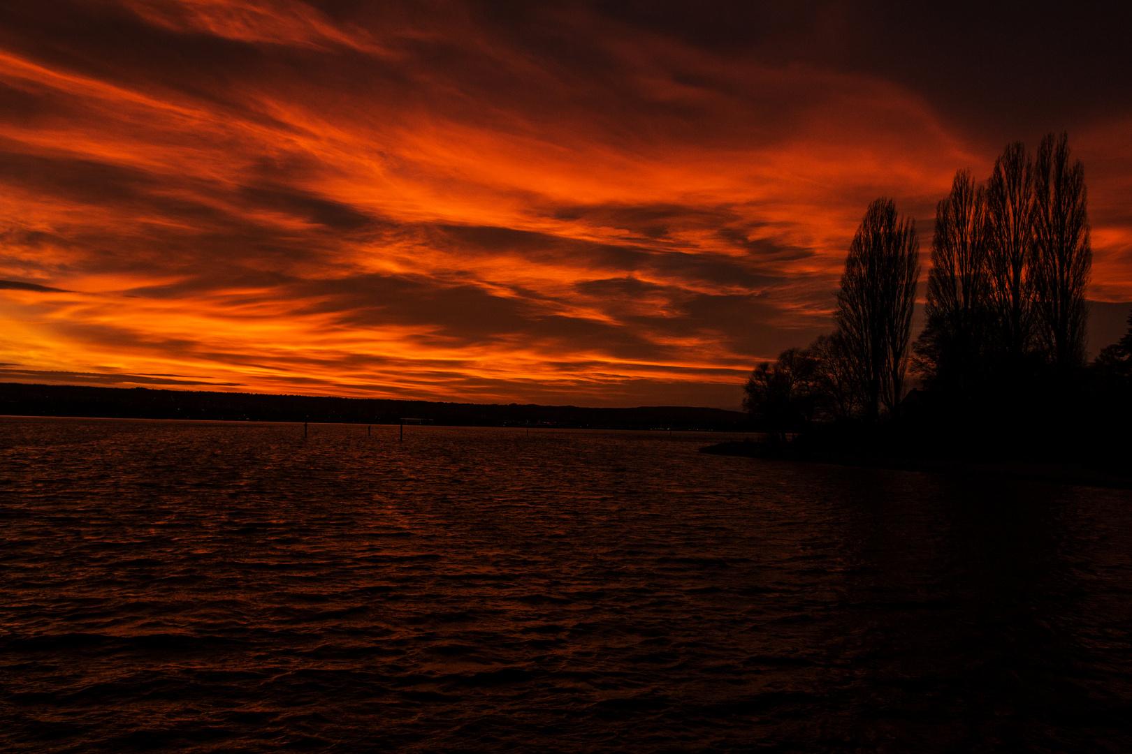 letzter Sonnenuntergang im Advent